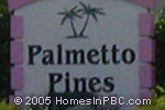sign in front of Palmetto Pines in Boca Raton