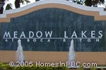 sign in front of Meadow Lakes at Boca Raton in Boca Raton