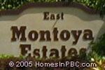 sign in front of Montoya Estates East in Boca Raton