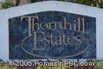 sign in front of Thornhill Estates in Boca Raton