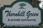 sign in front of Thornhill Green in Boca Raton