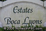 sign in front of Estates Boca Lyons in Boca Raton