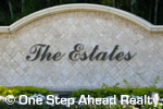 sign in front of The Estates in Boca Raton