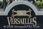 sign in front of Versailles in Wellington