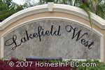 sign in front of Lakefield West in Wellington