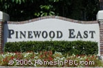 sign in front of Pinewood East in Wellington