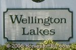 sign in front of Wellington Lakes in Wellington