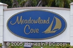 sign in front of Meadowland Cove in Wellington