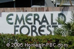 sign in front of Emerald Forest in Wellington