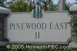 sign in front of Pinewood East II in Wellington