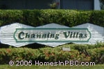 sign in front of Channing Villas in Wellington
