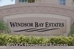 sign in front of Windsor Bay Estates in Wellington