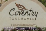 sign in front of Coventry Townhomes in Lake Worth
