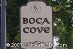 sign in front of Boca Cove in Boca Raton