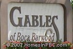 sign in front of Gables of Boca Barwood in Boca Raton