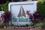 sign in front of The Island in Lake Worth
