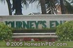 sign in front of Journeys End in Lake Worth