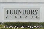 sign in front of Turnbury Village in Lake Worth