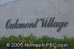 sign in front of Oakmont Village in Lake Worth