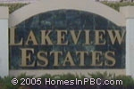 sign in front of Lakeview Estates in Lake Worth