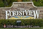 sign in front of Forest View in Lake Worth