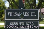 sign in front of Versailles Court in Lake Worth