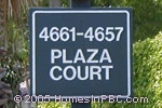 sign in front of Plaza Court in Lake Worth