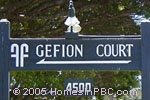 sign in front of Gefion Court in Lake Worth