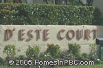 Click here for more information about DEste Court at The Fountains in Lake Worth