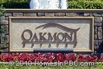 sign in front of Oakmont Estates in Wellington