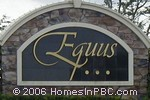 sign in front of Equus in Boynton Beach