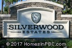 sign in front of Silverwood Estates in Lake Worth