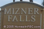 sign in front of Mizner Falls in Boynton Beach