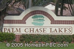 sign in front of Palm Chase Lakes in Boynton Beach
