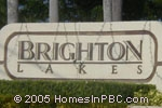 sign in front of Brighton Lakes in Boynton Beach