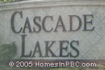 sign in front of Cascade Lakes in Boynton Beach