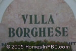sign in front of Villa Borghese in Delray Beach
