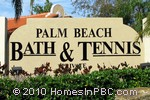 sign in front of Palm Beach Bath & Tennis in Delray Beach