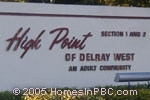 sign in front of High Point of Delray West I & II in Delray Beach