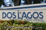 sign in front of Dos Lagos in Boynton Beach