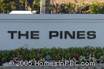 sign in front of The Pines of Delray North in Delray Beach