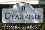 sign in front of Deauville Village in Delray Beach