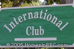 sign in front of International Club in Delray Beach