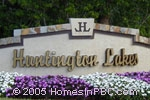 sign in front of Huntington Lakes in Delray Beach