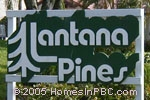 sign in front of Lantana Pines in Lake Worth