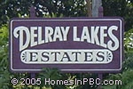sign in front of Delray Lakes Estates in Delray Beach