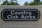 sign in front of Country Club Acres West in Delray Beach