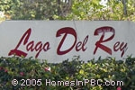 sign in front of Lago Del Ray in Delray Beach
