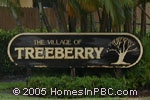 sign in front of The Village of Turnberry in Lake Worth