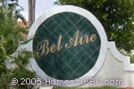 sign in front of Bel Aire in Delray Beach